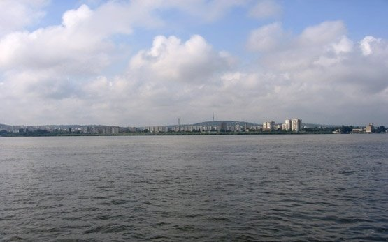 Panorama of Silistra from the Danube River